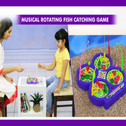 Musical Rotating Fish Catching Game