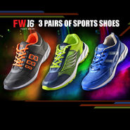FW16 3 Pairs of Sports Shoes
