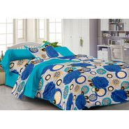 Storyathome 100% Cotton Single Bedsheet with 1 Pillow Cover-FY1105
