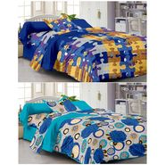 Set of 2 Single Bedsheet with 2 Pillow Cover-1105-1216