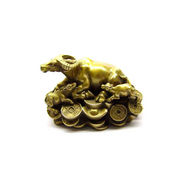 Fengshui Cow with Calf On Coins - Golden