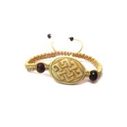 Fengshui Mystic Knot Bracelet Symbol Of Life Long Relation - Cream