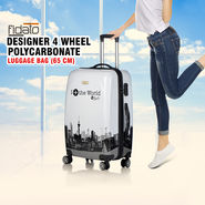 Fidato Designer 4 Wheels Polycarbonate Luggage Bag - 65 cm