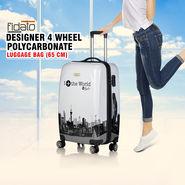 Fidato Designer 4 Wheels Polycarbonate Luggage Bag - 65 cm