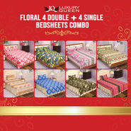 8 Bedsheet + 12 Pillow covers Maha combo (4DSBS15)