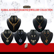 Floral Austrian Diamond Jewellery Collection