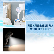 Folding Fan with LED Light