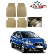 AutoStark - Premium Quality Beige Rubber Car Foot Mat For - Maruti Suzuki S Cross