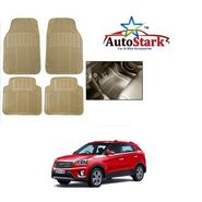 AutoStark - Premium Quality Beige Rubber Car Foot Mat For -Hyundai Creta