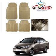 AutoStark - Premium Quality Beige Rubber Car Foot Mat For - Tata Indigo