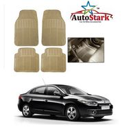 AutoStark - Premium Quality Beige Rubber Car Foot Mat For - Renault Fluence