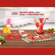 Fruit Juicer + 6 in 1 Slicer + Multi Cutter + Smart Knife + Spiral Cutter