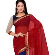 Indian Women Georgette Printed Saree -GA20126