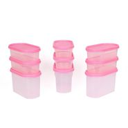 Gluman 9 Pcs Set of Modular Kitchen Storage Container Box - Mod Pink C7