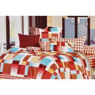 Delightful Square Print Double Bed Sheet - GO-011