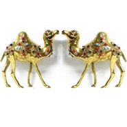 GRJ India Set of 2 handicraft Brass Stone Camel