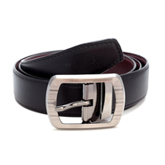 Porcupine reversible Faux Leather belt - Brown & Black_GRJBELT2