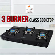 Gesto 3 Burner - Glass Cooktop