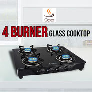 Gesto 4 Burner - Glass Cooktop