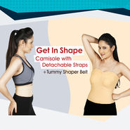 Get In Shape Camisole with Detachable Straps + Tummy Shaper Belt