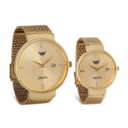 Gold Couple Watch