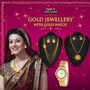 Gold Jewellery with Gold Watch