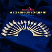 18 Pcs Gold Plated Cutlery Set