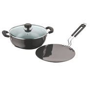 Vinod Cookware Black Pearl  Hard Anodised 2pc Combo Set HACM-2