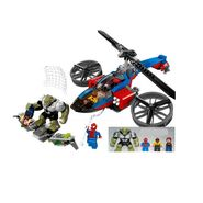 299 pcs Super Heroes DIY Spider Helicoper Rescue Block Set with 4 Minifigures