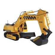 Full Function 8 CH RC Hydraulic Bulldozer Vehicle Toy with 360 Degree Cabin Rotation