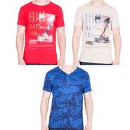 Combo of 3 American Elm Half Sleeves Slim Fit Tshirts_H10113