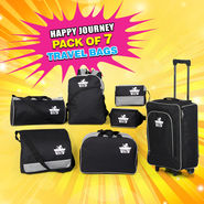 Happy Journey - Pack of 7 Travel Bags