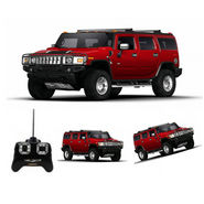Full Function Rechargeable RC Hummer H2 SUV Toy - Red