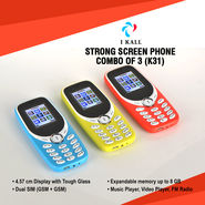 I Kall Strong Screen Phone Combo of 3 (K31)
