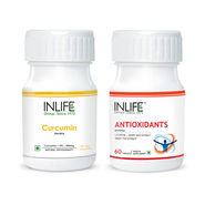 INLIFE Immune Health Combo Pack of Antioxidants & Curcumin 95 Advanced