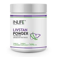 INLIFE Livstan Whey Protein Powder with Ayurvedic Herbs - 300g Vanilla