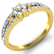 Avsar Real Gold & Swarovski Stone Mumbai Ring_I070yb