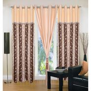 IWS Set of 3 Designer Door curtains-Multicolor- RNG-c01-352
