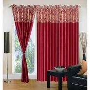 IWS Set of 3 Designer Door curtains-Multicolor- RNG-c01-389