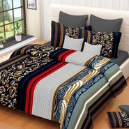 IWS Cotton Printed Double Bedsheet with 2 Pillow Covers-IWS-CB-1252