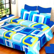 IWS Cotton Printed Double Bedsheet with 2 Pillow Covers-IWS-CB-534