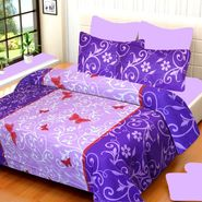 IWS Cotton Printed Double Bedsheet with 2 Pillow Covers-IWS-CB-621