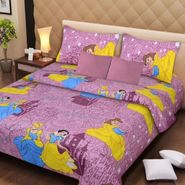 IWS Kids Cotton Printed Double Bedsheet with 2 Pillow cover IWS-CB-69