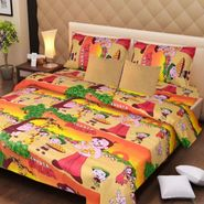 IWS Kids Cotton Printed Double Bedsheet with 2 Pillow cover IWS-CB-70
