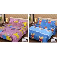 IWS Set of 2 Designer Double Cotton Bedsheet with 4 Pillow cover IWS-CCB-31