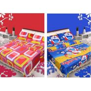 IWS Set of 2 Designer Cotton kids Double Bedsheet with 4 Pillow cover IWS-CCB-40