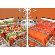 IWS Set of 2 Designer Cotton kids Double Bedsheet with 4 Pillow cover IWS-CCB-44