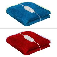 Set of 2 Warmland Electric Single Bed AC Blanket-Turquoise & Red-IWS-EB-10_01
