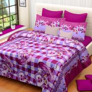 IWS Printed  Double Bedsheet with 2 Pillow Covers-IWS-NPrinted-07