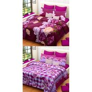 Set of 2 Printed  Double Bedhseets With 4 Pillow Covers-IWS-NPrinted-24